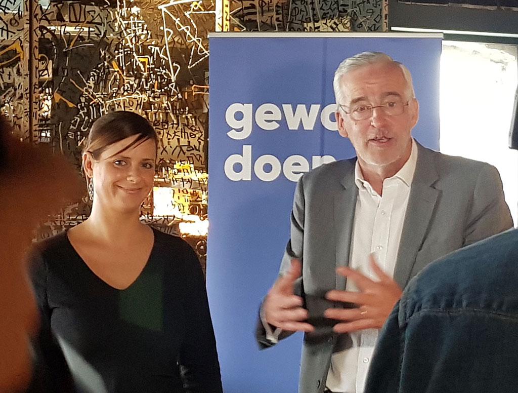 Marianne Verhaert en Christian Leysen